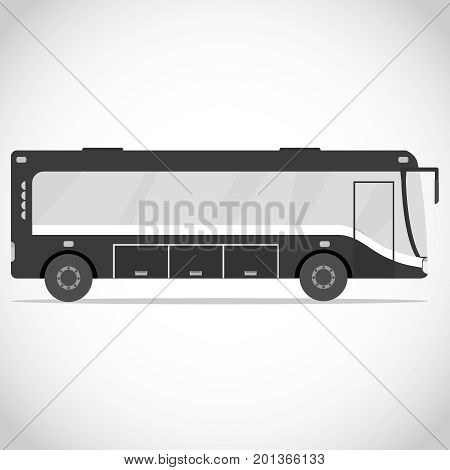 Bus in gray colors. A bus icon in the vintage style. Flat design vector illustration vector.