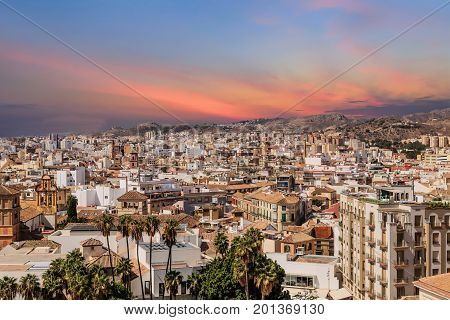 A View of Malaga from Alcazaba castle