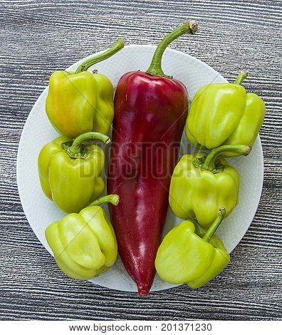 Stuffed peppers and red Red Hot Chili Peppers for cooking,