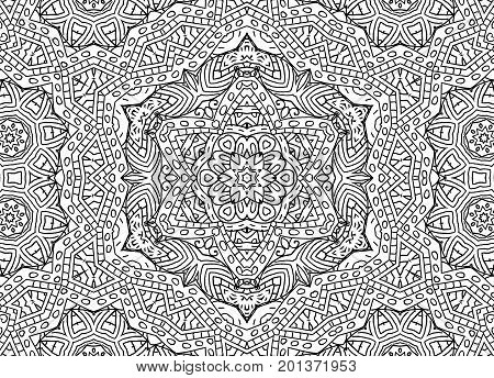 Black and white graphics with abstract outline concentric pattern