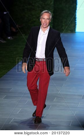 NEW YORK - SEPTEMBER 12: Designer Tommy Hilfiger walks the runway after Mercedes-Benz Fashion Week presented Tommy Hilfiger collections at Lincoln Center on September 12, 2010 in New York City.