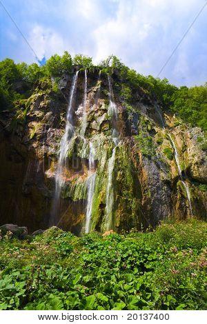 Plitvice Waterfall In Croatia