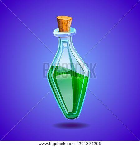 poison green bottle vector illustration game icon