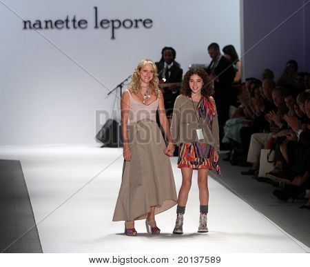 NEW YORK - SEPTEMBER 15: Mercedes-Benz Fashion Week presents Nanette LePore collections at Lincoln Center on September 15, 2010 in New York City.