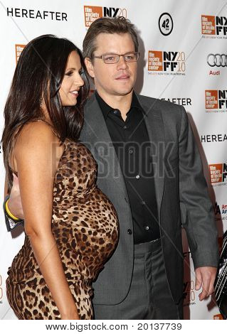 """NEW YORK - OCTOBER 10: Actor Matt Damon attends the premiere of """"Hereafter"""" at Alice Tully Hall at the New York Film Festival on October 10, 2010 in New York City."""