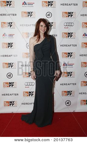 """NEW YORK - OCTOBER 10: Actress Bryce Dallas Howard attends the premiere of """"Hereafter"""" at Alice Tully Hall at the New York Film Festival on October 10, 2010 in New York City."""