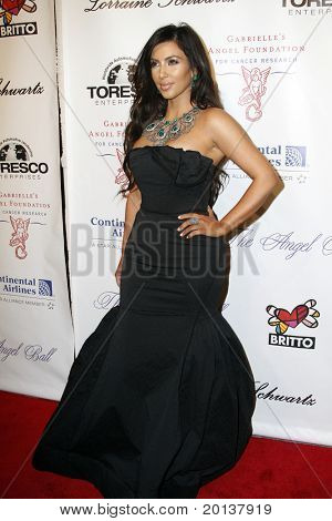 NEW YORK - OCTOBER 21: Kim Kardashian attends Angel Ball 2010,hosted by Gabrielle's Angel Foundation for Cancer Research at Cipriani's on October 21, 2010 in New York City.
