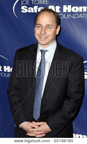 NEW YORK - NOV 11: Brian Cashman attends the 8th Annual Joe Torre Safe at Home Foundation Gala at Pier Sixty at Chelsea Piers on November 11, 2010 in New York City.