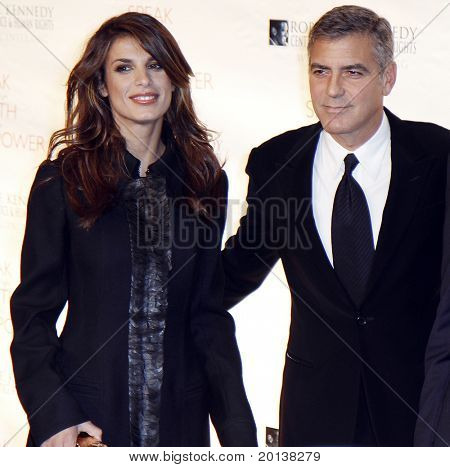 NEW YORK - NOVEMBER 17: George Clooney and Elisabetta Canalis attend the Robert F. Kennedy Center for Justice and Human Rights Ripple of Hope Awards at Pier 60 on November 17, 2010 in New York City.