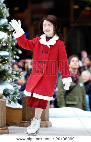 NEW YORK - NOVEMBER 25: An ice skater attends the 84th Macy's Thanksgiving Day Parade on November 25, 2010 in New York City.