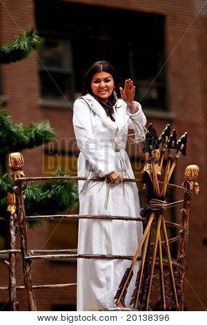 NEW YORK - NOVEMBER 25: Singer Crystal Shawanda attends the 84th Macy's Thanksgiving Day Parade on November 25, 2010 in New York City.