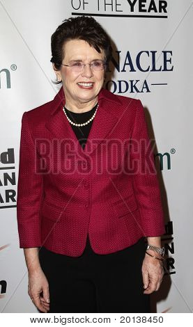 NEW YORK - NOVEMBER 30: Billie Jean King attends the Sports Illustrated Sportsman of the Year Awards at the IAC Building on November 30, 2010 in New York City.