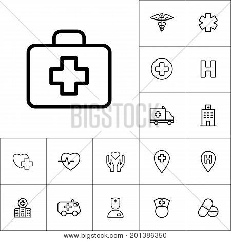First Aid Icon On White Background