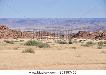 Fish River canyon in Namibia; the Grand Canyon of Africa. On the edge.