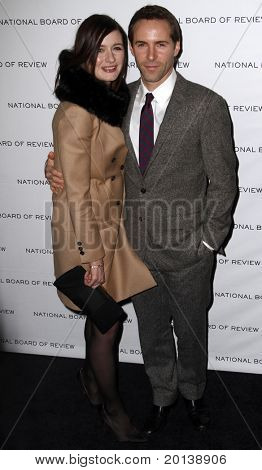 NEW YORK - JAN 11: Emily Mortimer and Alessandro Nivola attend the 2011 National Board of Review of Motion Pictures Gala at Cipriani's on January 11, 2011 in New York City.