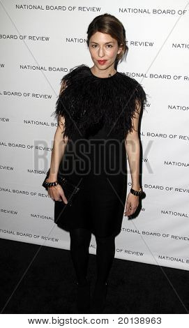 NEW YORK - JAN 11: Director Sofia Coppola attends the 2011 National Board of Review of Motion Pictures Gala at Cipriani's on January 11, 2011 in New York City.