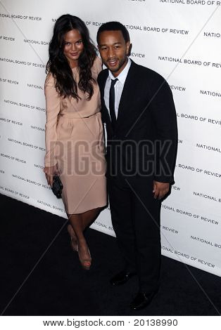 NEW YORK - JAN 11: Christine Teigen and John Legend attend the 2011 National Board of Review of Motion Pictures Gala at Cipriani's on January 11, 2011 in New York City.
