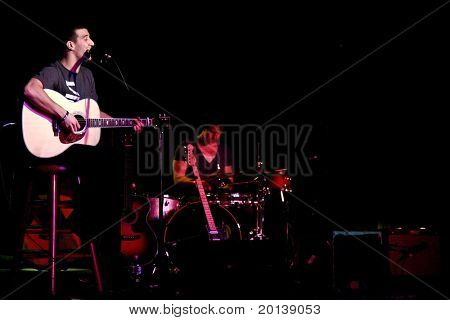 "FARMINGDALE - JANUARY 14: ""Dancing With the Stars"" dancer, Mark Ballas performs a solo concert at the Crazy Donkey Bar and Grill on January 14, 2011 in Farmingdale, New York."