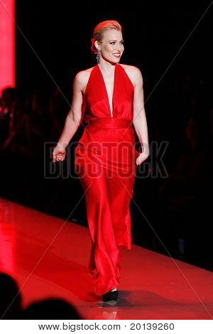 NEW YORK - FEBRUARY 9:  Singer Natasha Bedingfield walks the runway at Heart Truth's Red Dress Fashion Show during Mercedes-Benz Fashion Week at Lincoln Center on February 9, 2011 in New York City.