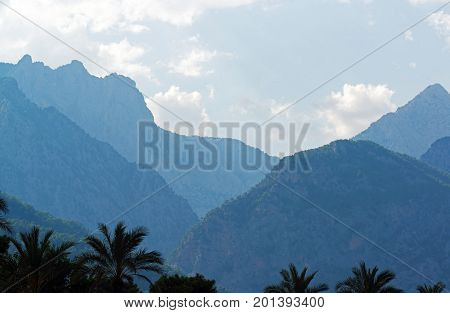 Turkey a view of the peaks of the Taurus Mountains