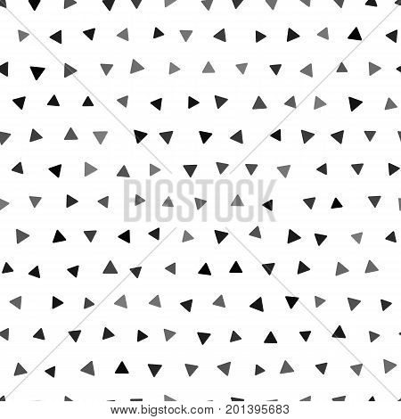 Seamless geometric pattern with triangles. Vector black and white random triangle seamless pattern.Tribal inspired seamless geometric pattern with triangles