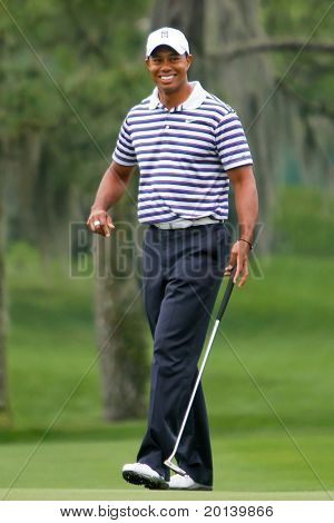 ORLANDO, FL - MARCH 23: Tiger Woods during a practice round at the Arnold Palmer Invitational Golf Tournament on March 23, 2011 at the Bay Hill Club and Lodge in Orlando, Florida.