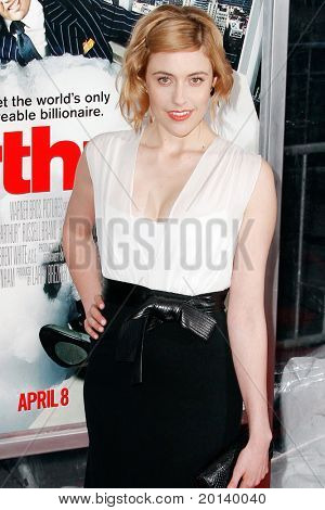 NEW YORK, NY - APRIL 5: Actress Greta Gerwig attends the New York premiere of 'Arthur' at the Ziegfeld Theatre on April 5, 2011 in New York City.