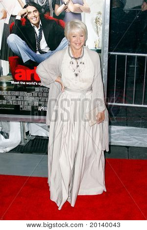 NEW YORK, NY - APRIL 5: Actress Helen Mirren attends the New York premiere of 'Arthur' at the Ziegfeld Theatre on April 5, 2011 in New York City.