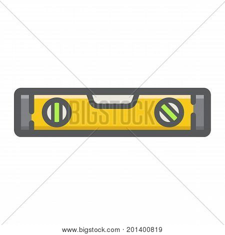 Bubble level tool filled outline icon, build and repair, level ruler sign vector graphics, a colorful line pattern on a white background, eps 10.