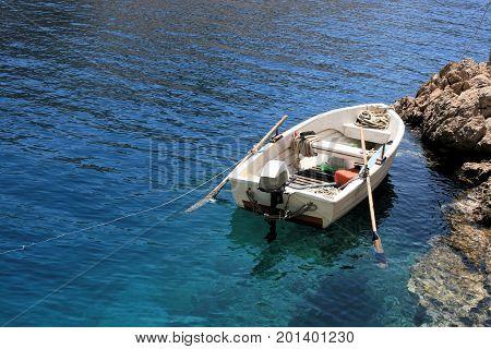 sloop in the Zavratnica bay near Jablanac, Croatia