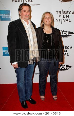 """NEW YORK - APRIL 20: Geoff Gilmore and Nancy Schafer attend the opening night premiere of """"The Union"""" at 2011 TriBeCa Film Festival at World Financial Center Plaza on April 20, 2011 in New York City."""