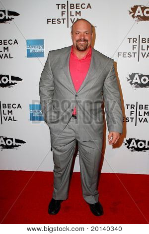 """NEW YORK - APRIL 20: Hugo Girard attends the opening night premiere of """"The Union"""" at the 2011 TriBeCa Film Festival at North Cove at World Financial Center Plaza on April 20, 2011 in New York City."""