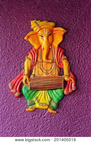 Lord Ganesha on wall , Lord Ganpati
