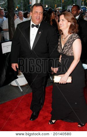 NEW YORK - APRIL 26: New Jersey Governor Chris Christie and wife, Mary Pat attend the Time 100 Gala for Time's 100 Most Influential People at Time Warner Center on April 26, 2011 in New York City, NY