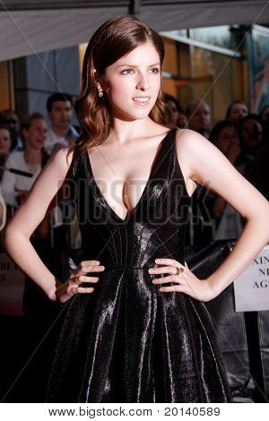 NEW YORK - APRIL 26: Actress Anna Kendrick attends the Time 100 Gala for Time's 100 Most Influential People in the World at the Time Warner Center on April 26, 2011 in New York City, NY
