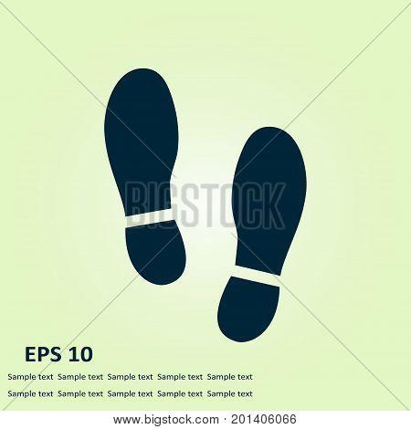 Black Imprint soles shoes icon. Flat design style. poster