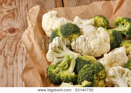 fresh vegetables on the wood background