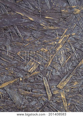 Brown Yellow Purple Close Up Chipboard Structure Abstract Background