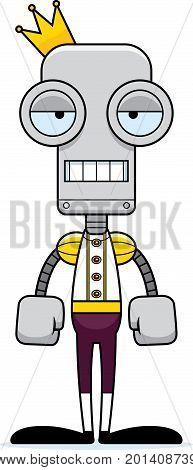 Cartoon Bored Prince Robot