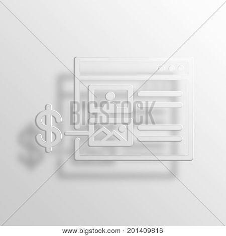 Native Advertising 3D Rendering Paper Icon Symbol Business Concept
