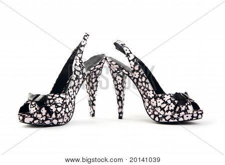 Pair Of Female Shoes On A High Heel