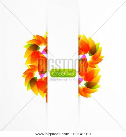 Abstract eps10 flower background