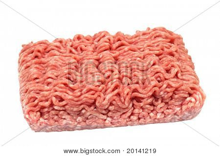 minced meat isolated on a white background