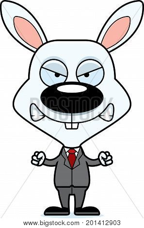 Cartoon Angry Businessperson Bunny
