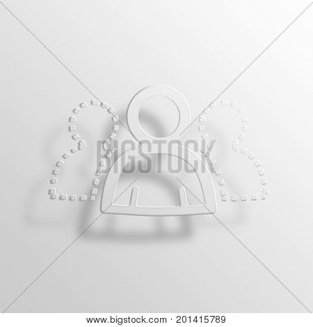 Possible Network 3D Rendering Paper Icon Symbol Business Concept