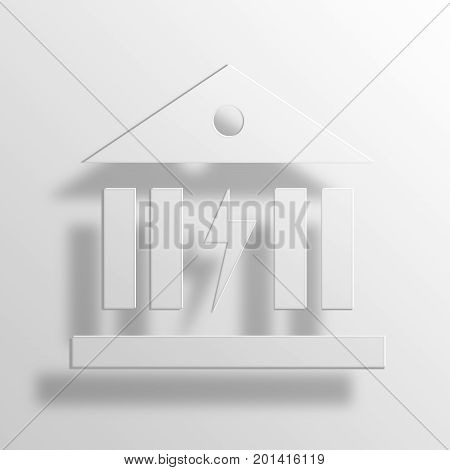 Power Banking 3D Rendering Paper Icon Symbol Business Concept
