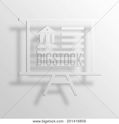 presentation 3D Rendering Paper Icon Symbol Business Concept