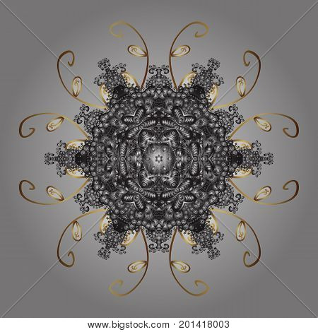 Vector illustration. Snowflakes pattern. Flat design of snowflakes isolated on colorful background. Snowflakes background. Snowflake ornamental pattern.