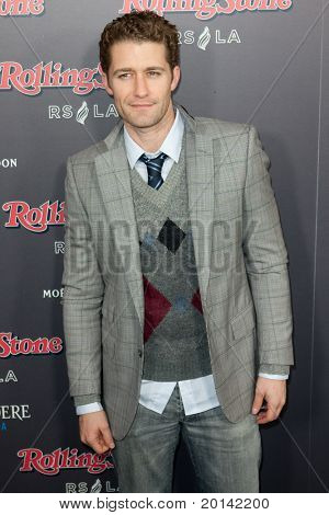 HOLLYWOOD, CA. - NOV 21: Matthew Morrison arrives at the 2010 American Music Awards Rolling Stone Magazine VIP After Party at Rolling Stone Restaurant and Lounge on November 21, 2010 in Hollywood, Ca.