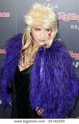 HOLLYWOOD, CA. - NOV 21: Ke$sha arrives at the 2010 American Music Awards Rolling Stone Magazine VIP After Party at Rolling Stone Restaurant and Lounge on November 21, 2010 in Hollywood, California.